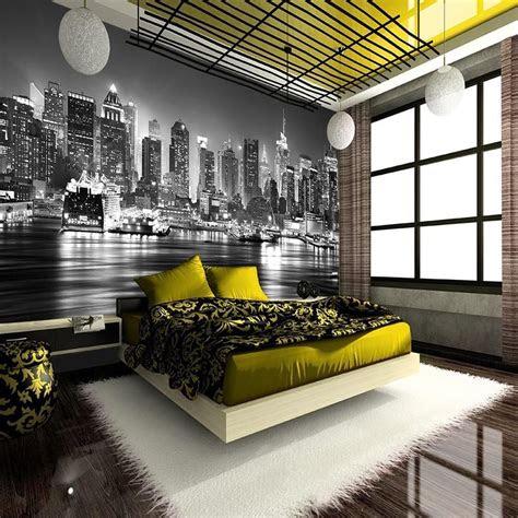 york city  night skyline wallpaper mural photo giant
