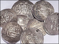 Ancient Arab coins found in Sweden (pic: Swedish National Heritage Board)