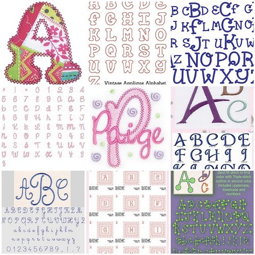 Embroidery Fonts 102208