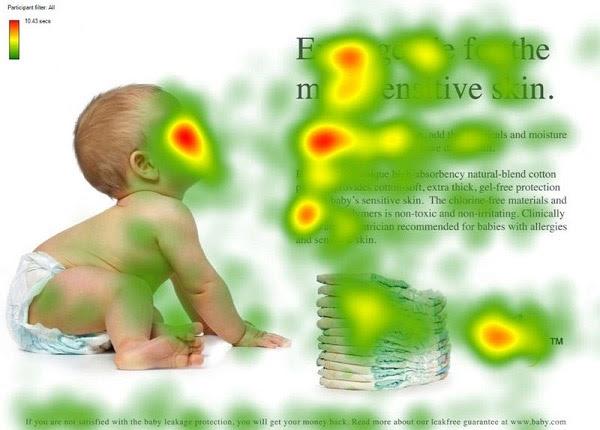 baby face eye tracking