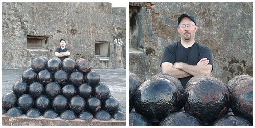 cannon balls at fort