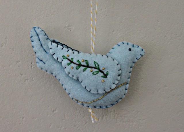 Felt Ornament Making -- Betz White's Peace Dove