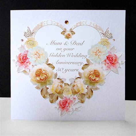 Antique Rose Heart  Handmade Golden Wedding Anniversary