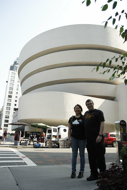 Us in front of the Guggenheim