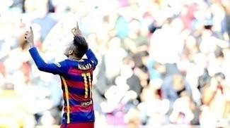 Neymar comemora gol contra o Getafe, pelo Espanhol