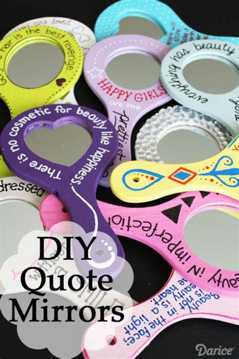 DIY Gifts for Girls: Beauty Quote Mirror