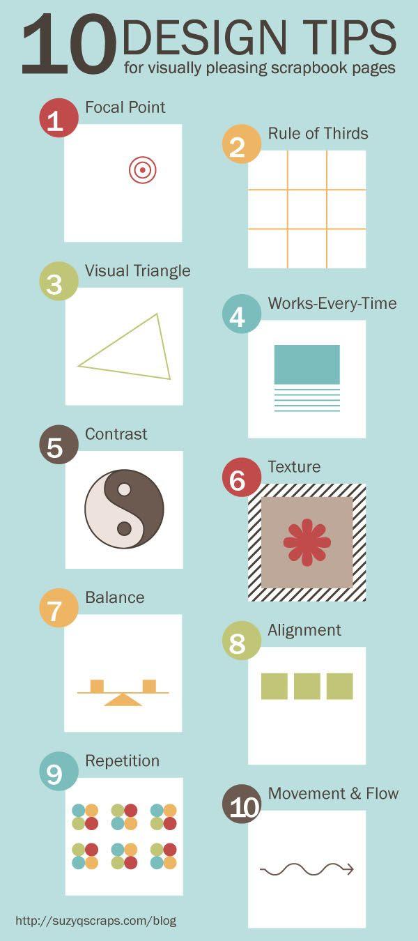 tips para el diseño scrapbook