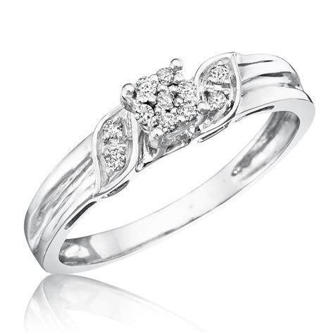 1 1 10 Carat T.W. Diamond Women s Engagement Ring 10K