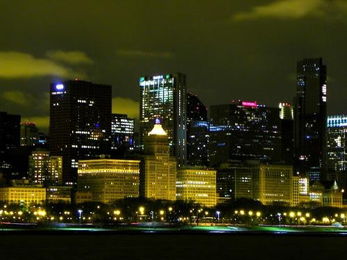 Chicago city night lights , 11.15.2009 (6)