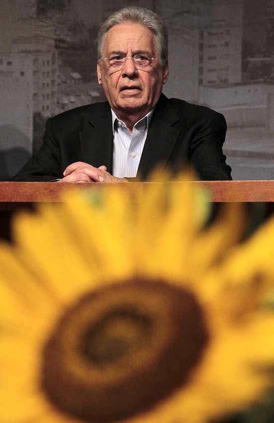 O ex presidente Fernando Henrique Cardoso, durante lançamento do Portal Sua Metropole, site do PSDB*