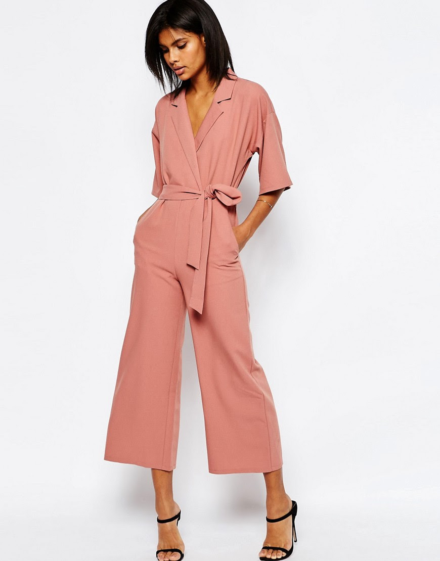 Image 1 of ASOS Jumpsuit With Kimono Sleeve