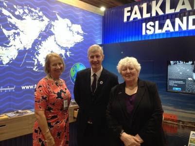 El stand de Malvinas en la convención del partido laborista