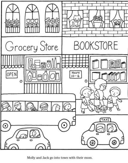 coloring page healthy snacks