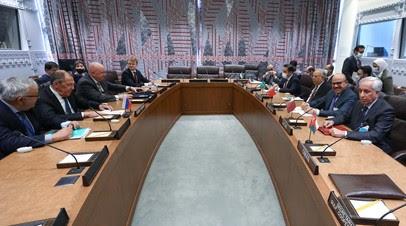 Лавров обсудил с делегацией стран Персидского залива ближневосточную проблематику