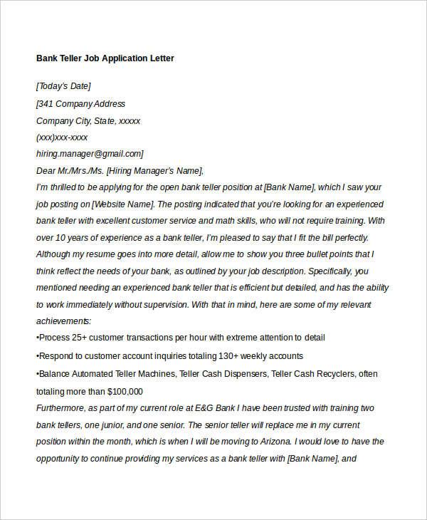 40 Job Application Letters Format Free Premium Templates