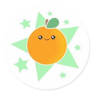 Kawaii Orange Burst Stickers sticker