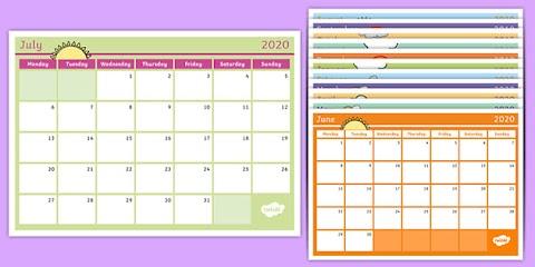 Annual Leave Calendar Template 2020