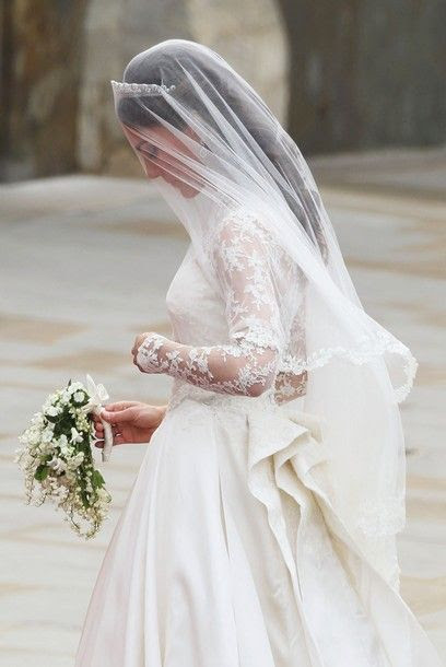 Thank goodness for sleeves and ladylike sophistication in a wedding dress! Thanks Kate. I hope sleeves and overall modesty catch on again in wedding gowns.