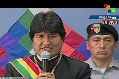Evo Morales: Nosotros hemos aprendido a defender la soberanía y la dignidad del pueblo boliviano.