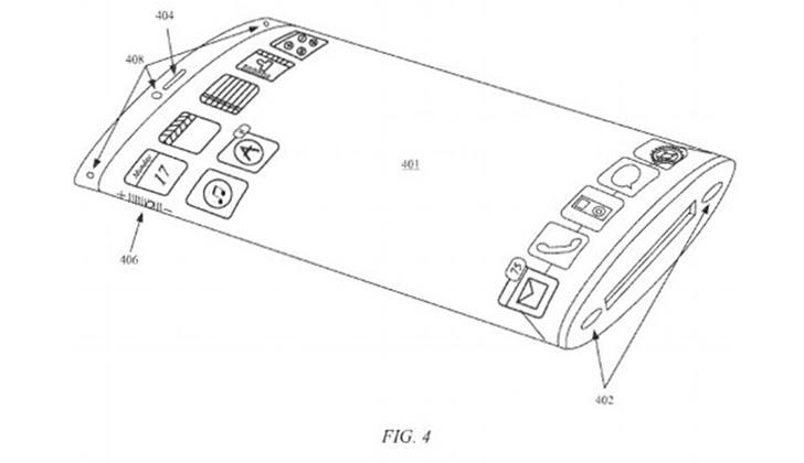 Imagen de la patente aprobada a Apple. Foto: Apple.