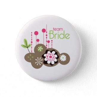 Floral Team Bride button