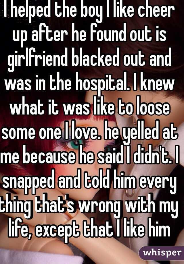 I Helped The Boy I Like Cheer Up After He Found Out Is Girlfriend