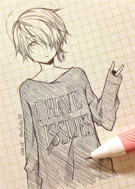 cute anime boy drawing easy anime chibi school boy drawing