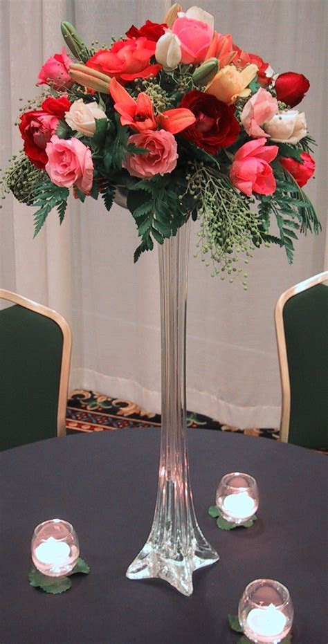 Wedding Flowers: wedding centerpieces tall vases with flowers