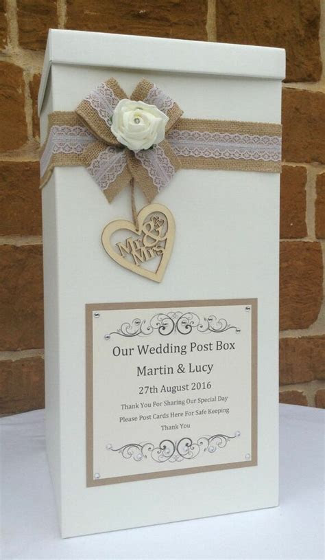 Vintage Wedding Card Post Box, Wedding Favours, Table