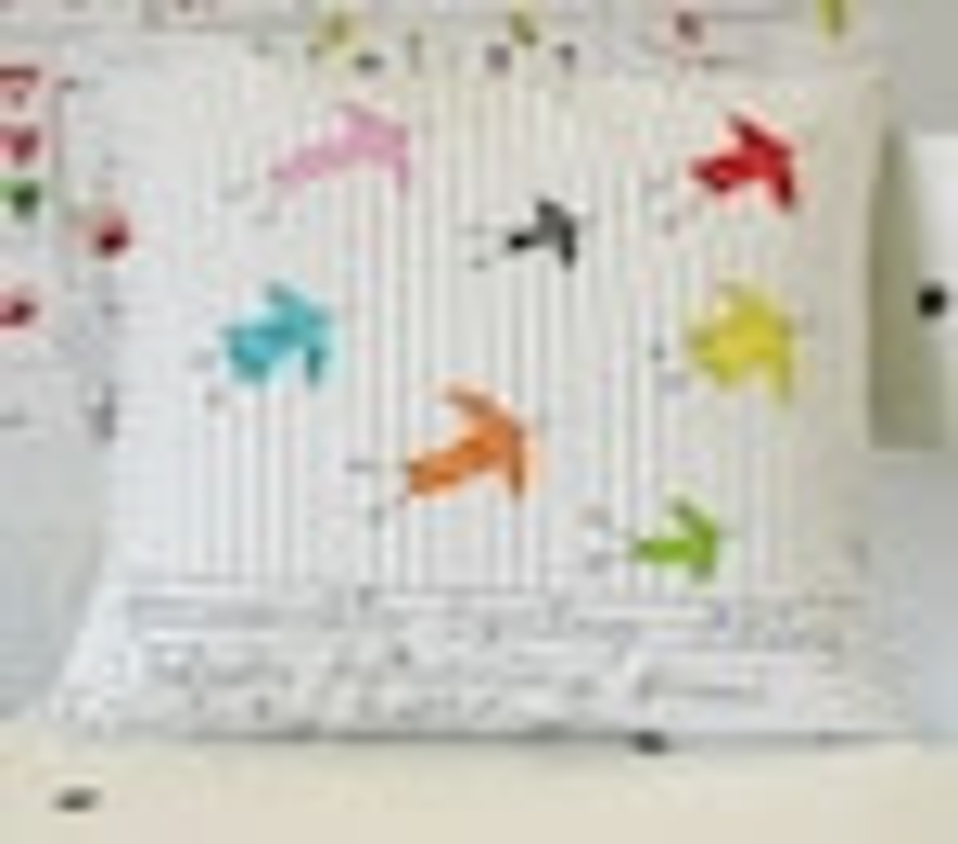 Favourite Spring thing - birds - appliquéd cushion cover