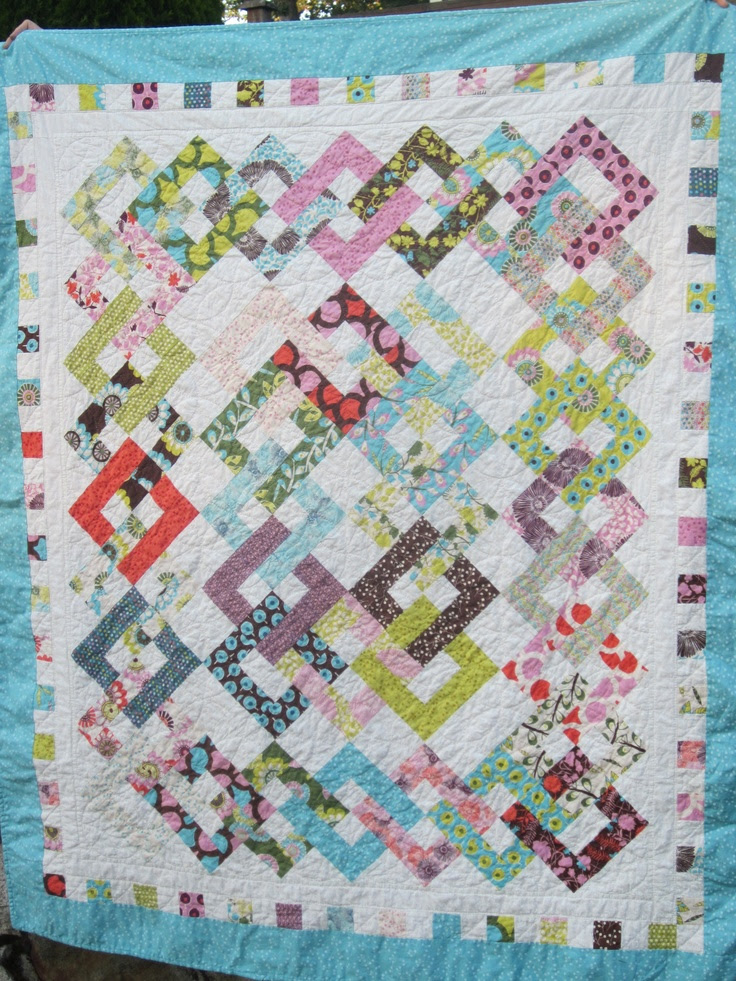 from the book Scrap Basket Sensations by Kim Brackett- fabric chosen by my daughter :)