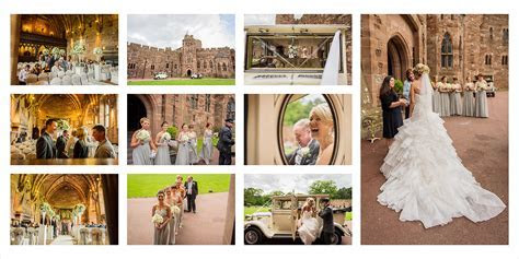 Peckforton Castle wedding album design