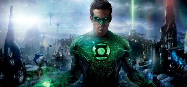 Ryan Reynolds as the Green Lantern in GREEN LANTERN.