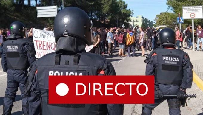 CATALUÑA: Máxima tensión tras la sentencia del 'procés'. Disturbios y carreteras cortadas.