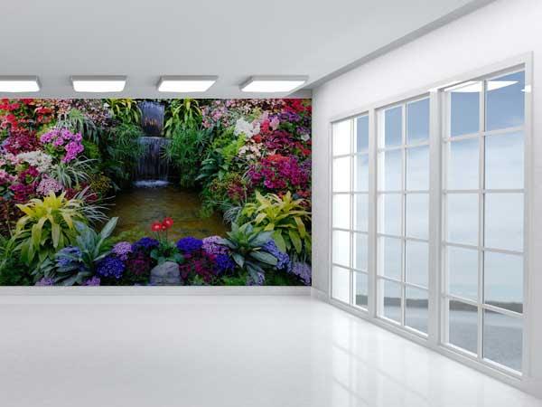 Fotomural Cascada Flores Exoticas