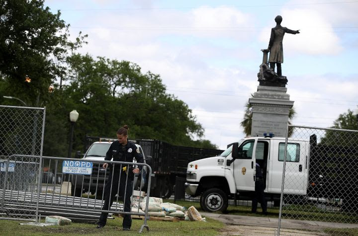 Image result for taking down confederate monuments