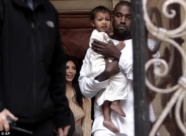 Baby and Yeezus: Kanye doted over his only child