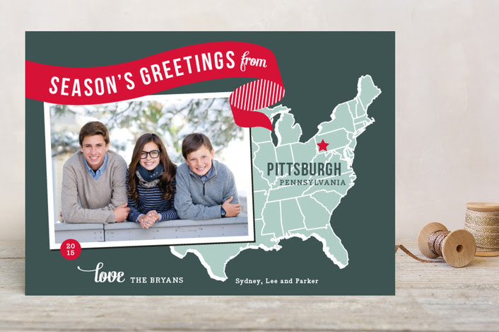 Holiday Map - East Coast Christmas Photo Card | Minted