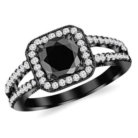 #blackdiamondgem 1.47 Carat 14K Black Gold Designer Split