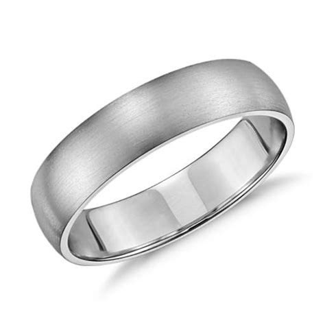 Matte Classic Wedding Ring in 14k White Gold (5mm)   Blue Nile