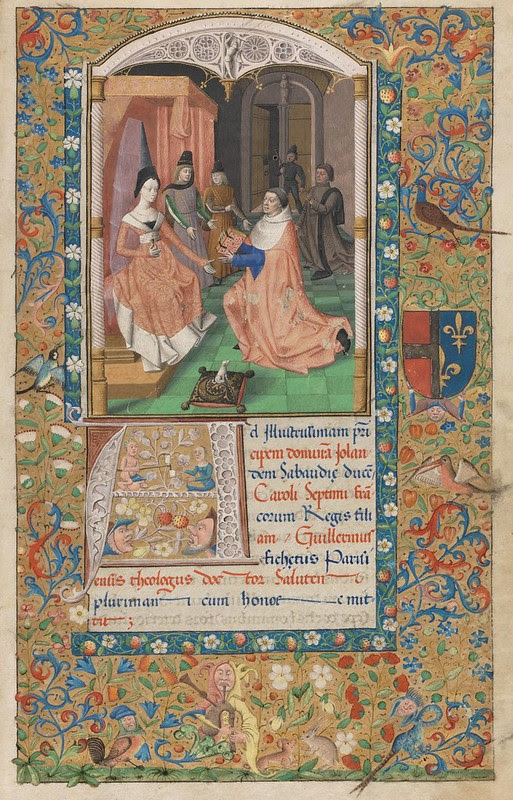 15th c. illuminated non-religios French MS)