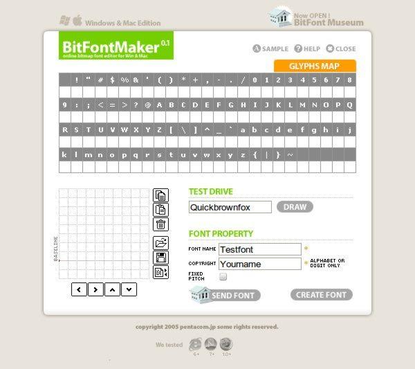 BitFontMaker +14 Herramientas web para trabajar con tipografías