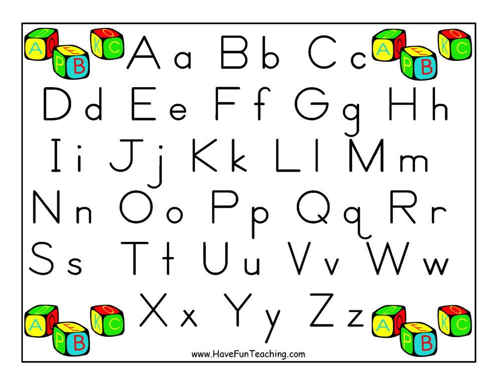 Alphabet Letter Poster - Zaner Bloser   Have Fun Teaching