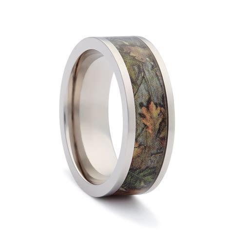 Camo Wedding Band   Flat Titanium 2   Camo Wedding Ring
