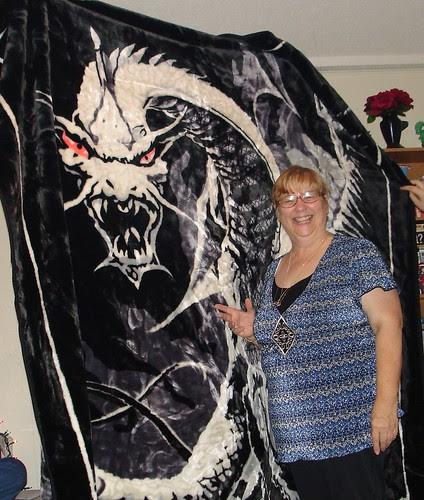 Mom's dragon blanket
