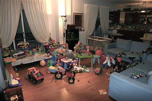 A full with toys living room is our kids' heaven!