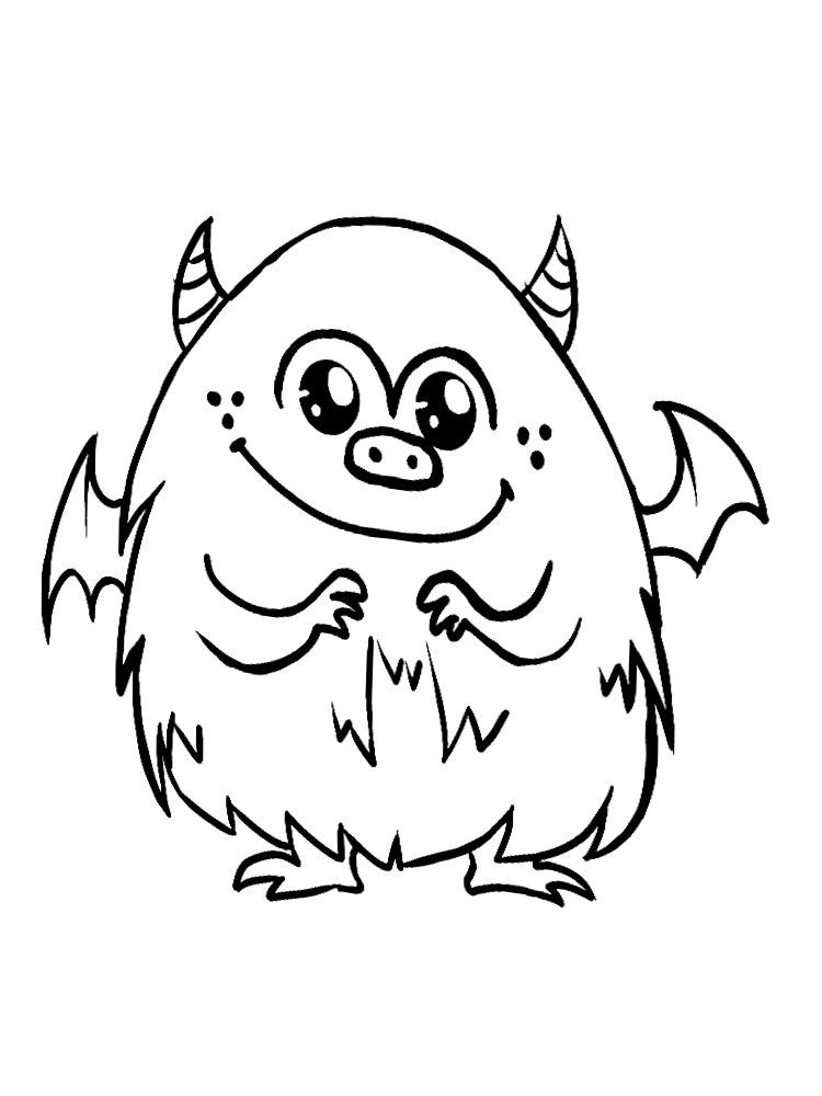 útiles Dibujos Para Colorear Monstruos Para Chiquitines Creativos