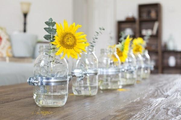 Apfersinen Rosen Tisch Dekoration Frühling Design