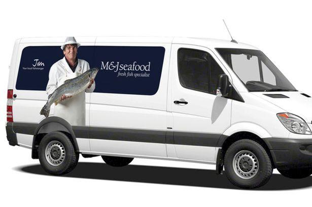 An M&J Seafood van