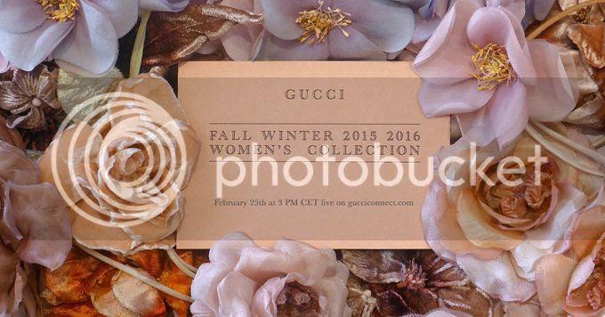 Gucci fall winter 2015 show livestream